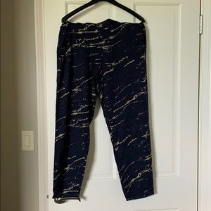 Patterned Relaxed Workpant